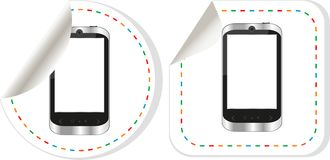 smart phone (smartphone) with blank screen set Royalty Free Stock Images
