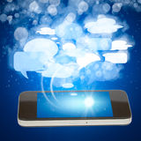 Smart phone social media concept Royalty Free Stock Images