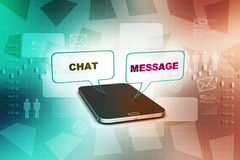 Smart phone with social media speech bubbles Royalty Free Stock Photography