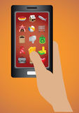 Smart Phone Software Applications Icon Vector Illustration Stock Photography