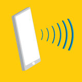Smart Phone. With sound waves Stock Images