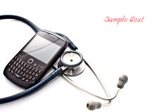 Smart phone and stethoscope Stock Photography