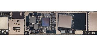 Free Smart Phone Tablet Components, Circuit Board From The Modern Mobile Tablet Phone With CPU RAM Chips And Other Electronic Stock Photos - 195738753
