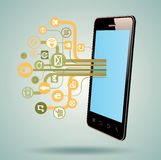 Smart Phone, tablet, with Media Application Royalty Free Stock Images