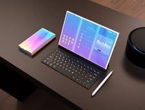 Smart phone, tablet PC, digital pen, keyboard Stock Images