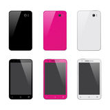 Smart phone in three colors Stock Photography