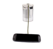 Smart Phone And Tin Can Telephone II Royalty Free Stock Image