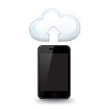 Smart Phone Upload Royalty Free Stock Photography
