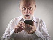 Smart phone use royalty free stock image