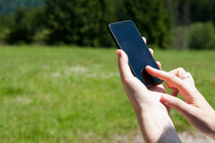 Smart phone use Royalty Free Stock Images