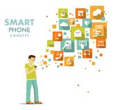 Smart phone using concept Royalty Free Stock Images