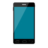 Smart phone vector with blank screen.  Royalty Free Stock Photo