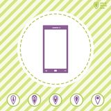 Smart phone vector icon. Illustration on a Flat design style. EPS 10 Royalty Free Stock Image