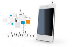 Smart phone. Vector illustration of White smart phone functions Royalty Free Stock Image