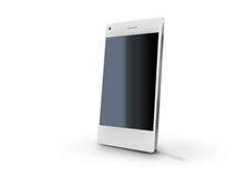 Smart phone vector illustration. White smart phone vector illustration  on white Royalty Free Stock Image