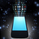 Smart Phone Video Sphere Stock Photos