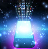 Smart Phone Videos or images Sphere Stock Images