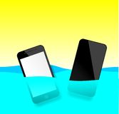 Smart phone waterproof Stock Images