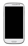 Smart Phone. White Smart Phone with blank screen isolated on white. Clipping path included Royalty Free Stock Photos