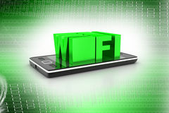 Smart phone with wi-fi Stock Images