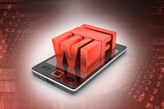 Smart phone with wi-fi Stock Photos