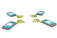 Smart phone and wireless technology Stock Image