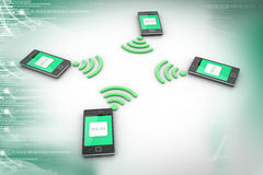 Smart phone and wireless technology Royalty Free Stock Photo