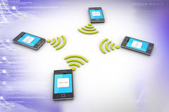 Smart phone and wireless technology Royalty Free Stock Photos