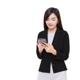 Smart Phone With Business Woman. Stock Photography