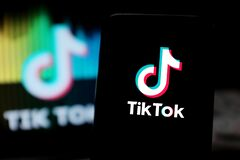 Free Smart Phone With TIK TOK Logo,which Is A Popular Social Network On The Internet. Stock Images - 171749554