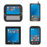 Smart phones. Smart mobile devices and phones Stock Images