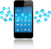 Smart phones apps Stock Images