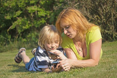 Smart phones education. Royalty Free Stock Photography
