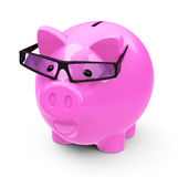 The smart piggy bank. 3d generated picture of a smart pink piggy bank Stock Image