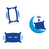 Smart pillow. A set of pillow icons Stock Photography