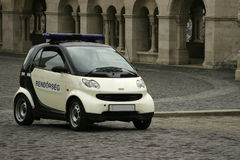 Smart Police. Hungarian Police Car in Budapest Stock Photo