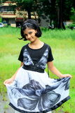 Smart pose. A sweet Indian girl with her smart and attractive pose Royalty Free Stock Image