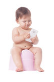 Smart potty training Stock Photography