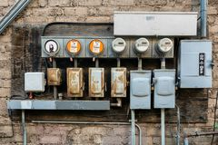 Smart power meters for consumption. In Arizona Royalty Free Stock Image