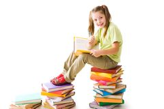Smart preschooler Stock Images