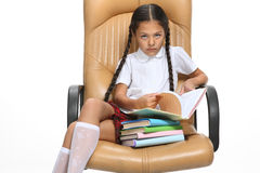 Smart pupil Royalty Free Stock Photography