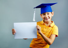 Smart pupil Royalty Free Stock Photos