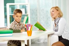 Smart pupil Stock Photography