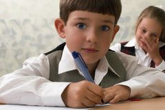 Smart pupil Royalty Free Stock Image