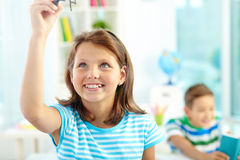Smart pupil Royalty Free Stock Images