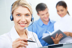 Smart receptionist Stock Photo