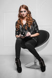 Smart red-haired woman Royalty Free Stock Photo