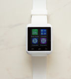 Smart-reloj blanco Foto de archivo