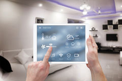Smart remote home control system app Royalty Free Stock Photography