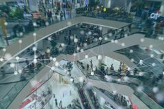 Free Smart Retail Concept With Machine, Deep Learning, Neural Network Technology, The Artificial Intelligence Network In Smart Store To Stock Images - 161035424